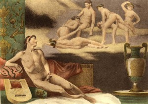 Masturbasi pria yang dilukiskan Édouard-Henri Avril